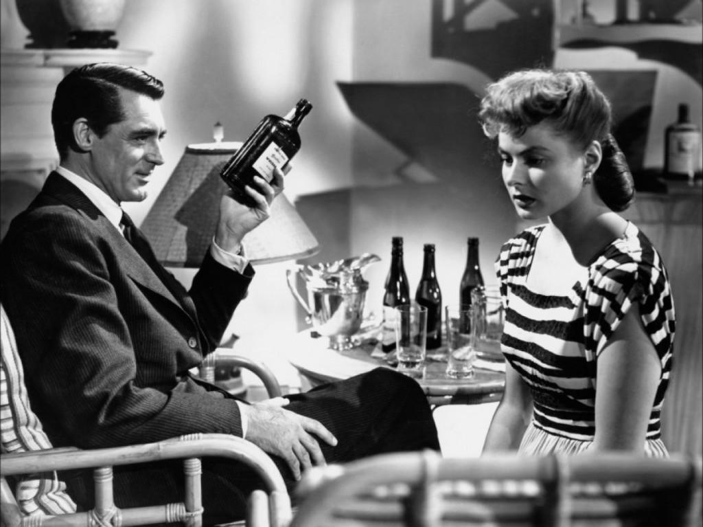 Cary Grant et Katherine Hepburn dans Les Enchaînés