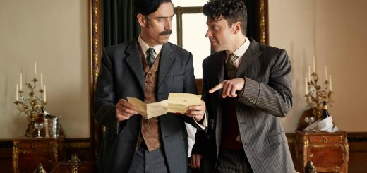 "HOUDINI & DOYLE: L-R: Stephen Mangan and Michael Weston in the all-new ""Spring-Heel'd Jack"" episode of HOUDINI & DOYLE airing Monday, May 23 (9:00-10:00 PM ET/PT) on FOX © 2016 FOX Broadcasting Co. Cr: FOX ."